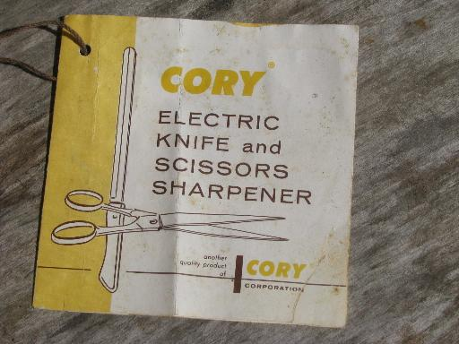 Vintage Cory Electric Knife Sharpener For Knives And