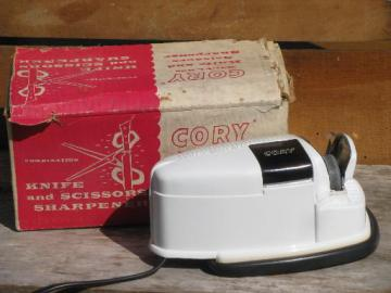 vintage Cory electric knife sharpener for knives and scissors, #KSS box