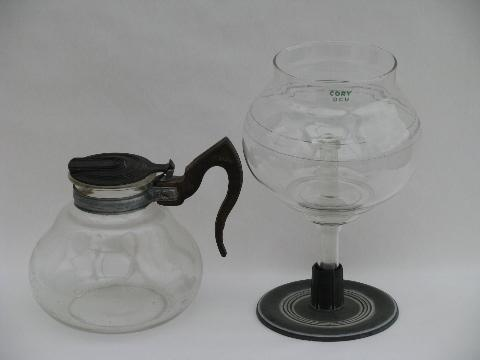 Vaculator Coffee Maker Parts : vintage Cory vacuum coffee brewer pot w/ filter rod