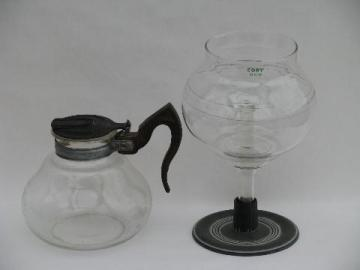vintage Cory vacuum coffee brewer pot w/ filter rod