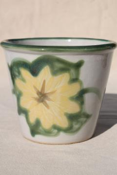 vintage Country Flower sunflower Louisville stoneware pottery planter pot