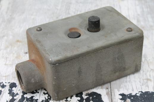 vintage Crouse-Hinds explosion proof enclosure, industrial