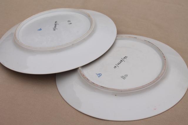 Vintage Czechoslovakia Porcelain Plates Bacchanalia