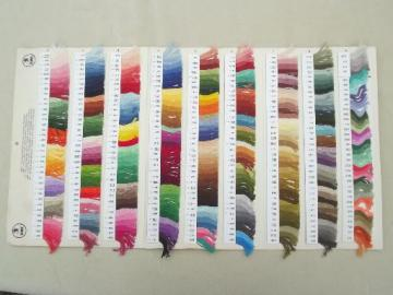 vintage DMC color swatch chart for cotton thread embroidery floss
