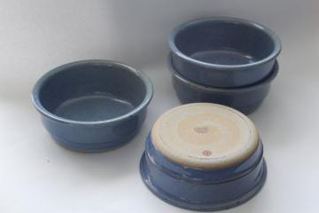 vintage Dansk - Japan Nielstone blue glazed stoneware soup or cereal bowls