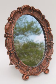 vintage Dart plastic easel stand frame vanity / dressing table / boudoir mirror