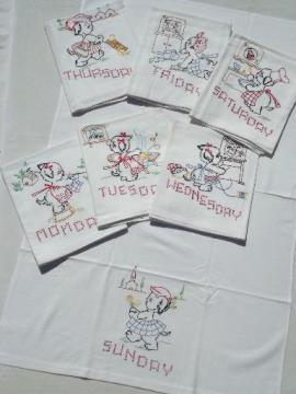 Vintage Kitchen Tablecloths Towels