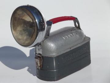 vintage Delta Power-King battery floodlight flashlight, camping lantern