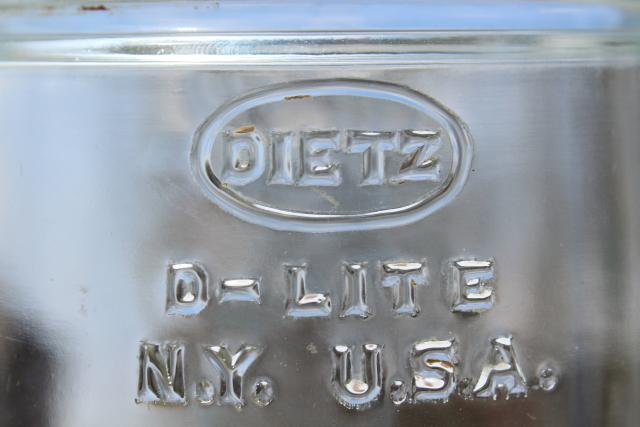vintage Dietz D-lite lantern globe, replacement lamp shade for railroad or barn lantern