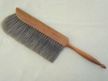 vintage Dietzgen natural bristle brush,  draftsman drafting table drawing brush