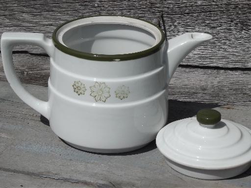 vintage Drip-o-Lator coffee maker, filter basket and ironstone china pot