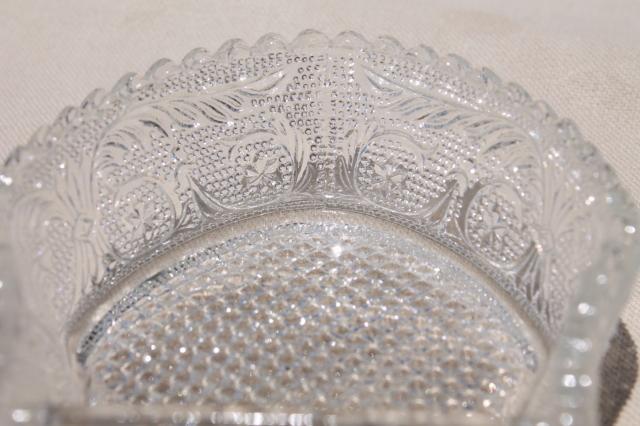 Vintage Duncan Amp Miller Sandwich Pattern Pressed Glass