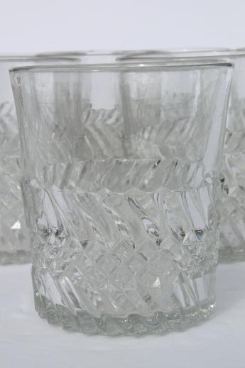 Vintage Eapg Jersey Swirl Pattern Glass Tumblers Antique