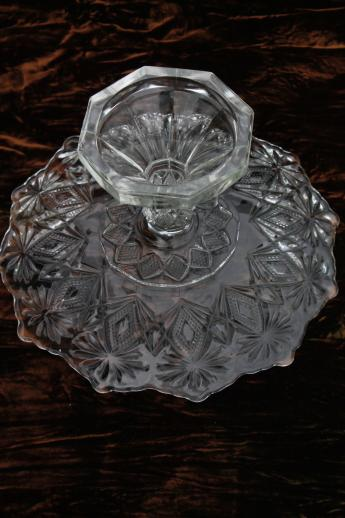 Early American Pressed Glass Cake Stand