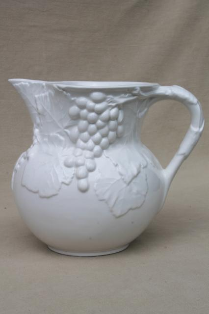 Vintage Elios Italian Earthenware Ceramic Pitcher Glossy