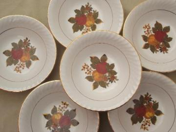 vintage English Harvest Wedgwood china, set of 6 cereal bowls