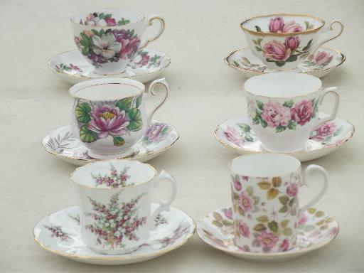Vintage English Bone China Tea Cup Amp Saucer Collection