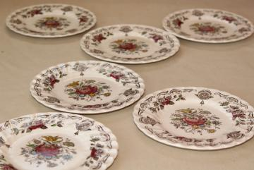 vintage English transferware china plates Myottu0027s Bouquet multicolored floral & old u0026 antique china plates u0026 dishes