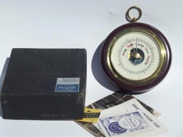vintage Fee and Stemwedel Airguide barometer weather gauge w/ paperwork