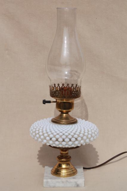 Vintage fenton french opalescent hobnail moonstone glass table lamp vintage fenton french opalescent hobnail moonstone glass table lamp w chimney shade aloadofball Images