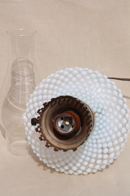 Vintage Fenton French Opalescent Hobnail Moonstone Glass