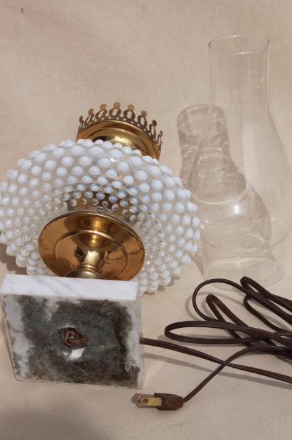 Vintage Fenton French Opalescent Hobnail Moonstone Glass