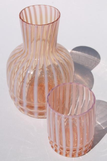 Vintage Fenton Glass Tumble Up Water Carafe Amp Tumbler