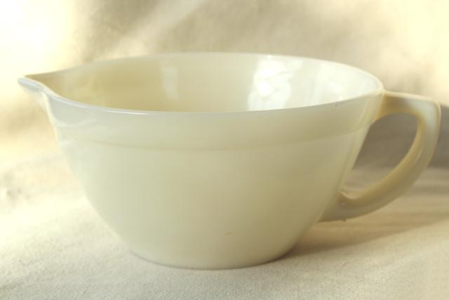 Vintage Fire King Oven Ware Custard Ivory Milk Glass