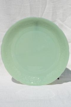 vintage Fire King jade-ite jadite green Alice dinner plate