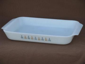 vintage Fire-King Candle Glow Candleglow kitchen glass baking pan