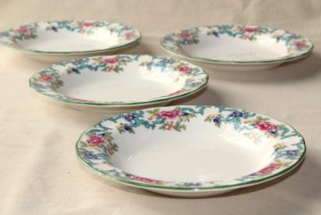 vintage Floradora Royal Doulton Made in England china soup bowls set of 4
