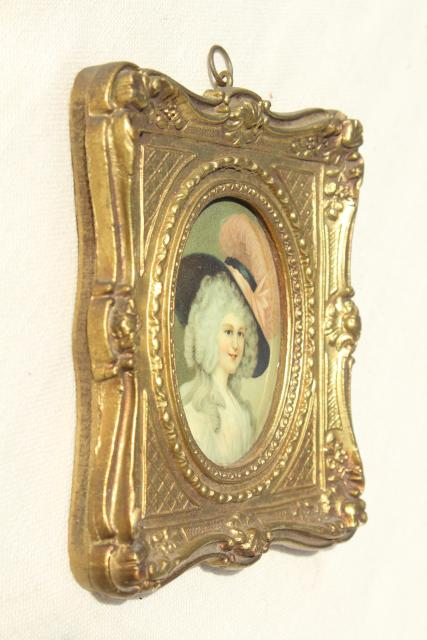 vintage Florentine gold ornate miniature picture frames w/ Regency ...