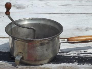 vintage Foley food mill, hand crank strainer for applesauce or baby food