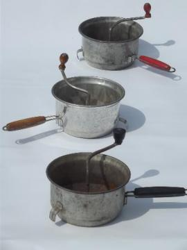 vintage Foley food mill lot hand crank strainers for fruit & canning veg