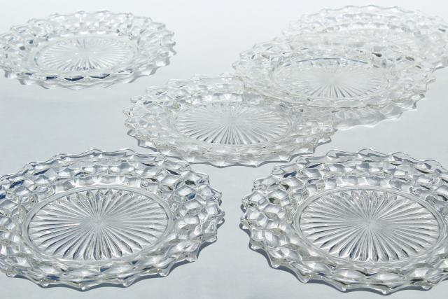 sc 1 st  Laurel Leaf Farm & vintage Fostoria American pattern pressed glass salad plates set of 6