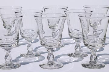 vintage Fostoria Century pattern water goblets or large wine glasses set of 8