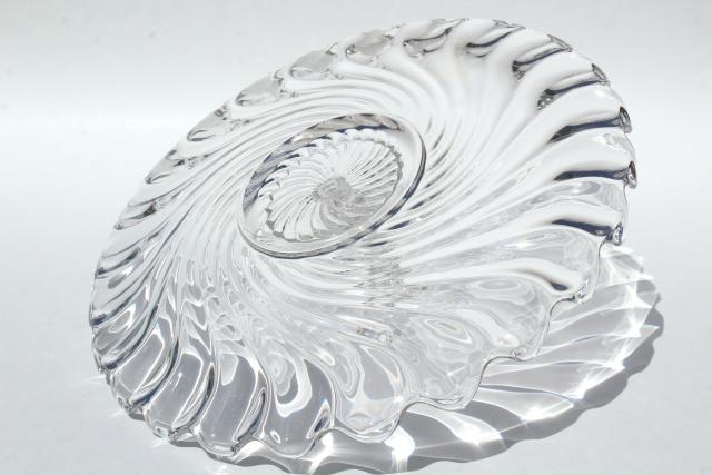 vintage Fostoria Colony glass sandwich tray or cake plate w/ center handle : fostoria cake plate - pezcame.com