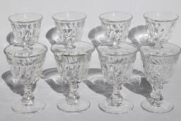 vintage Fostoria Colony wine glasses, set of 8 crystal clear goblets