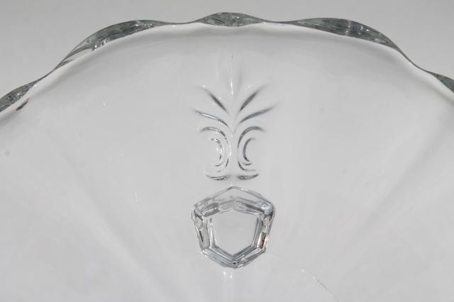 vintage Fostoria baroque three toed footed plate, bonbon tray or tiny cake stand
