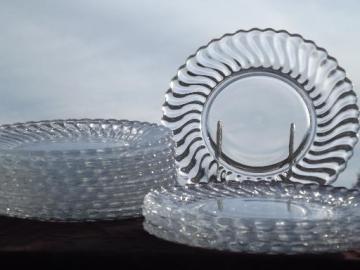 vintage Fostoria colony glass salad plates, set of 12