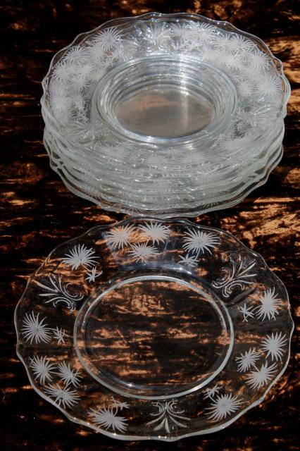 Vintage Fostoria Etched Glass Lido Baroque Pattern Salad