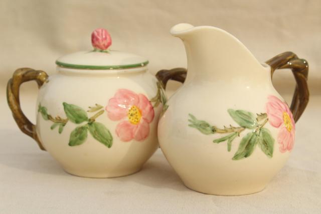 vintage Franciscan Desert Rose creamer \u0026 sugar set w/ large cream pitcher & vintage Franciscan Desert Rose creamer \u0026 sugar set w/ large cream ...