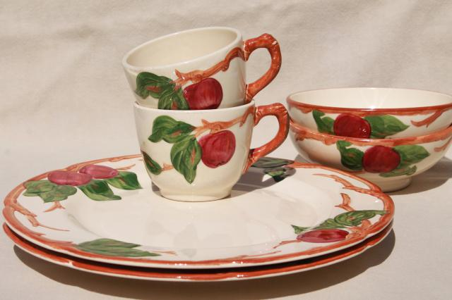 vintage Franciscan apple pottery dinnerware American made ...