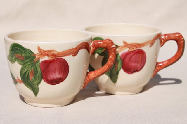 vintage Franciscan apple pottery dinnerware American made California backst& & vintage Franciscan apple pottery dinnerware American made ...