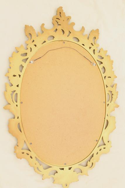 vintage French country style ornate gold rococo plastic frame mirror