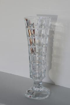 vintage French lead crystal vase, Cristal d'Arques Soliflor pattern