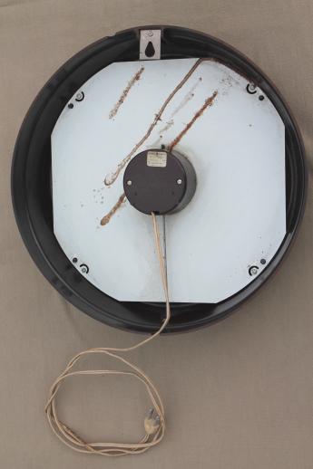 vintage GE electric wall clock, big brown bakelite school clock or ...