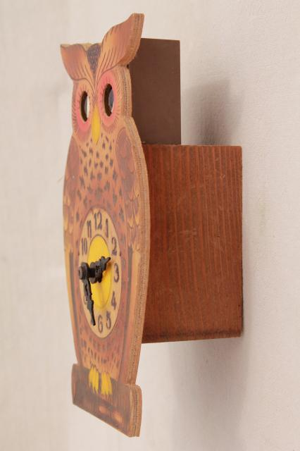 German black forest owl animated clock moving eyes cuckoo clock vintage german black forest owl animated clock moving eyes cuckoo clock voltagebd Images