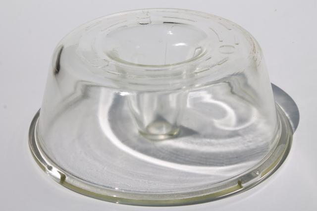 Vintage Glasbake Glass Angel Food Cake Bundt Pan Heat