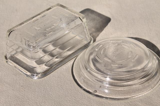 vintage Glasbake oven proof glass baking pans tiny child's size doll loaf, mini pie pan